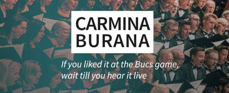 Carmina Burana: From Bucs game to LIVE in concert